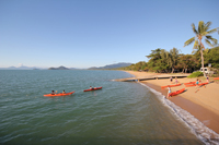 returning from the morning kayak tour in Palm Cove