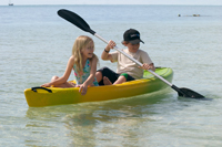 Kids Kayaking on the Great Barrier Reef